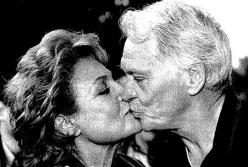 Sir Bobby Robson y Carmen Sevilla