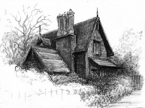 Pen House Drawing English House