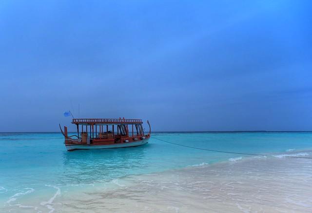 Deserted Boat on a Deserted Island
