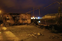 emoh (carmeltoe) Tags: light urban home youth night graffiti industrial low scene location bum drain