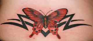 butterfly tatoo feminina