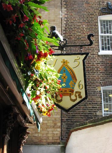 Old pub sign
