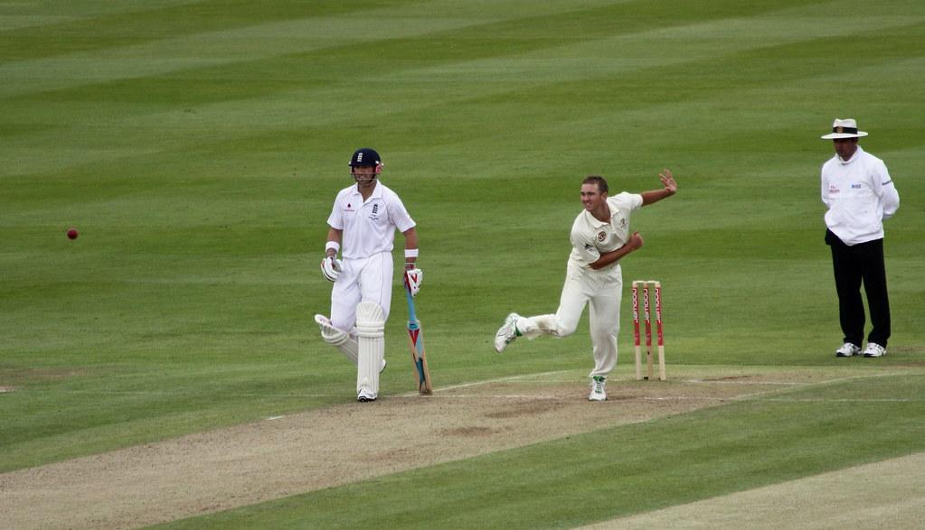 Edgbaston E v A 2009 - Nathan Hauritz Bowling