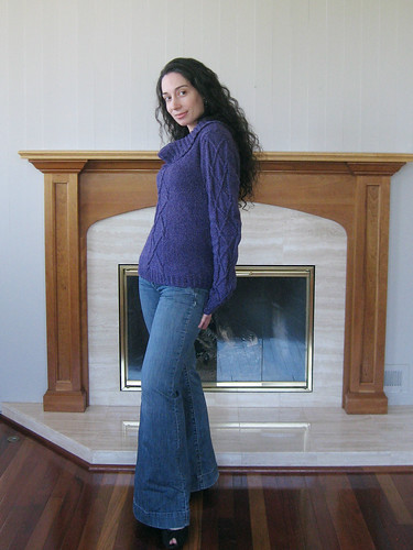 Slouchy Silky Wool Pullover w/Fireplace