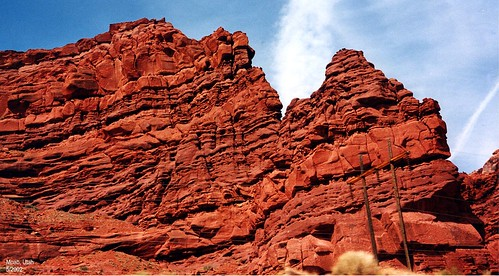 Red rock formation near Arches National Park