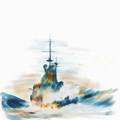 Rough Seas (Pat McDonald) Tags: sea england usa canada storm scotland ship navy roosevelt atlantic churchill sailor battleship fleet dreadnought royalnavy roughseas scapaflow mackenzieking heavyweather whiteensign homefleet hmsrenown