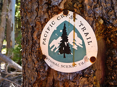 Pacific Crest Trail (ex_magician) Tags: pictures oregon lumix photo image photos hiking picture panasonic trail adobe pacificcresttrail wilderness lakeofthewoods lightroom trailmarker cascademountains moik trailrunning pacificcrest badgerlake adobelightroom klamathcounty fourmilelake skylakeswilderness endurancesports skylakes tz5 dmctz5 twinpondstrail