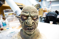 Students create full head masks in the Makeup ...