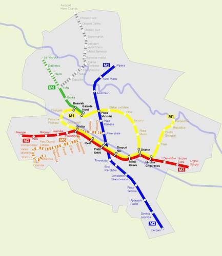 Harta metrou 2009