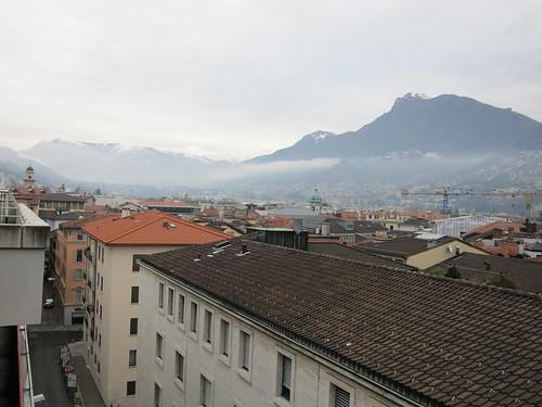 overlooking Lugano