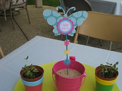 First Birthday Party - outside table decor