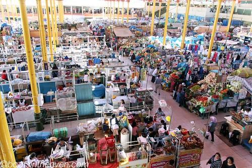 Overhead market view