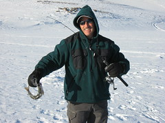 Bob With a Lake Trout (fethers1) Tags: icefishing laketrout greenmountainreservoir