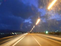 夜間ドライブ