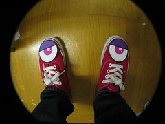 Moody Vans (Cherrybomb Ink) Tags: red ink sneakers powershot fisheye skate vans authentic cherrybomb stockroom canons5 cherrybombink