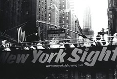 View (Single) (Josh Sinn) Tags: newyorkcity americanflag tourists chryslerbuilding bustour slrprogressiongroupbw newyorksight