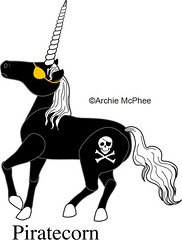 Pirate Unicorn- Piratecorn - Unused Unicorn Design