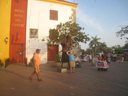 Having fun in Cartagena