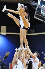 But Dragons Hope For a Leg Up (MNJSports) Tags: athletic cheerleaders crowd toss fans cheer throw supporters gymnastic acrobatic synchronized drexelspiritgroup