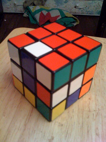Solving a cube top-bottom-middle 3/7