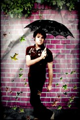 185/365 Don't stand under a parasol waiting for it to rain... (QuEpAsA Boy!) Tags: plants brick leaves wall umbrella purple wind windy parasol elegant marypoppins 365days 365daysproject flickr365 enyaadaywithoutrain