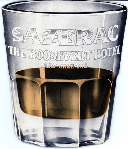 Sazerac  Bar menu, Roosevelt Hotel, New Orleans, 1940s