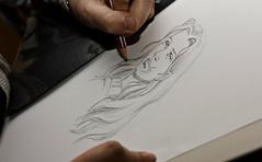 Annabel ddicace... (Franck Tourneret) Tags: dedication pencil comics drawing dessin crayon bd magus ddicace