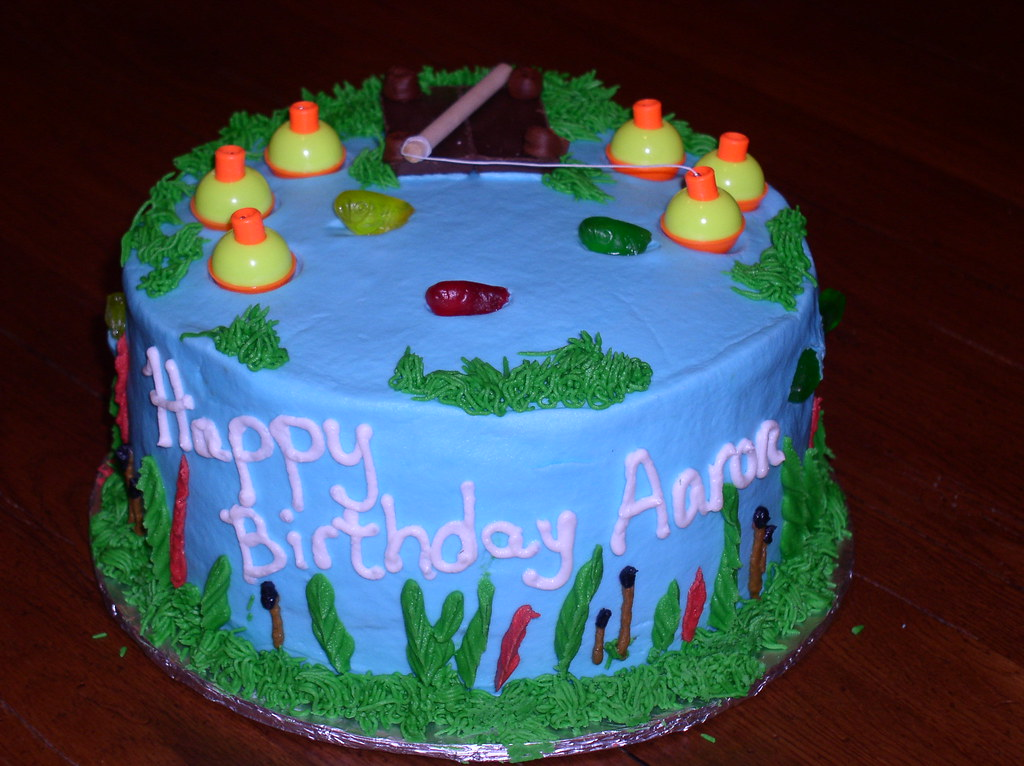 Fishing Pond Birthday Cake