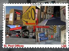 Second Life Post Briefmarke