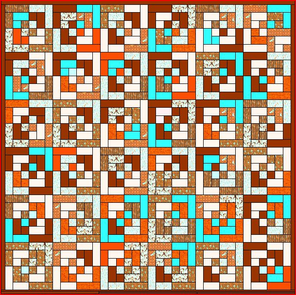 my idea for my mendocino quilt