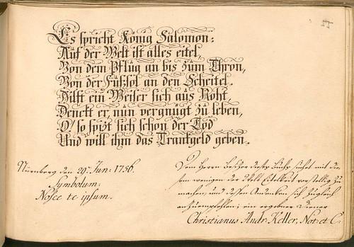 Liber Amicorum - Johann Christian Sigmund Mönch c