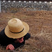 Amish Boy on Grass 1