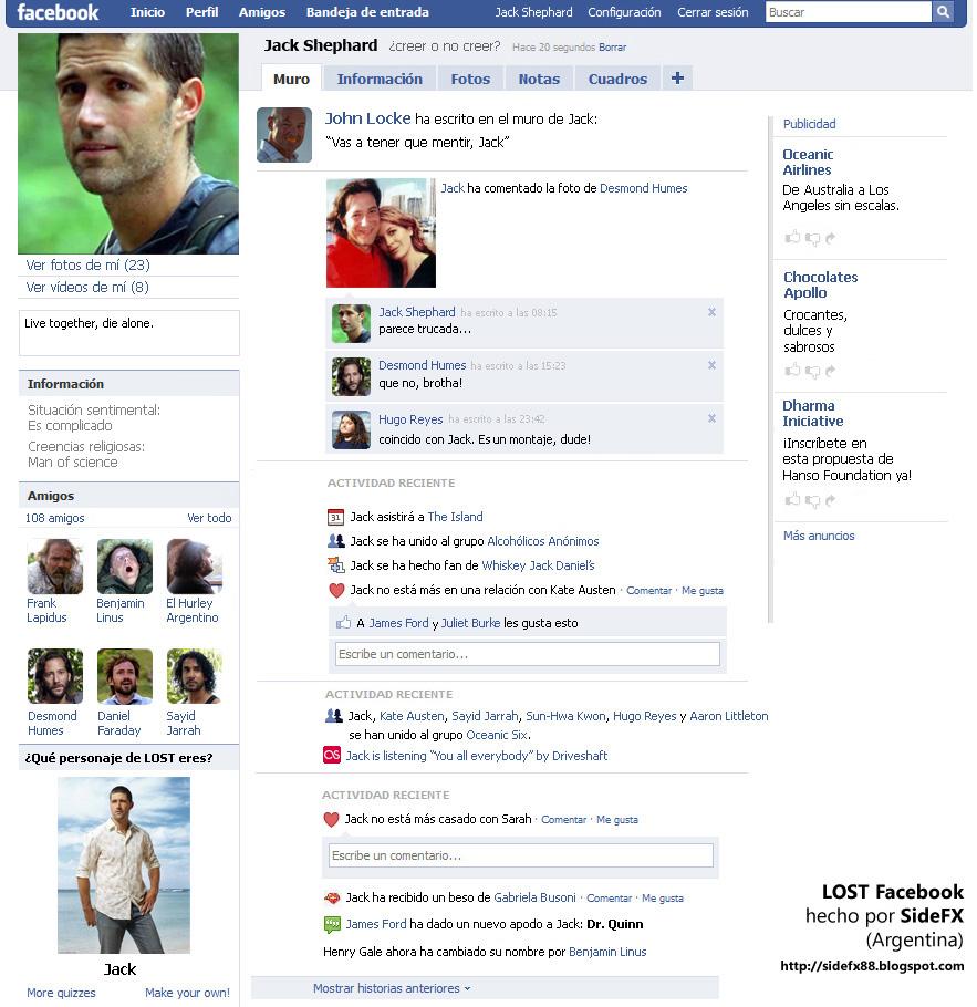 los facebook de los famosos (muy divertido)