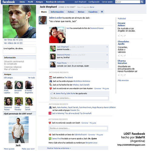 Thumb Lost: El Facebook de Jack Shephard