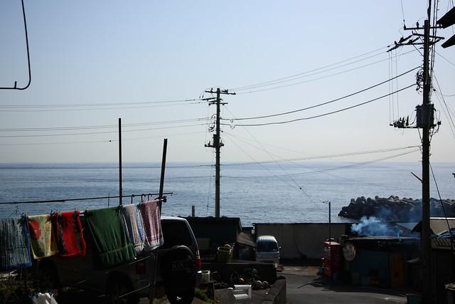古びた漁村
