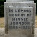 Headstone Minnie Johnson Southampton