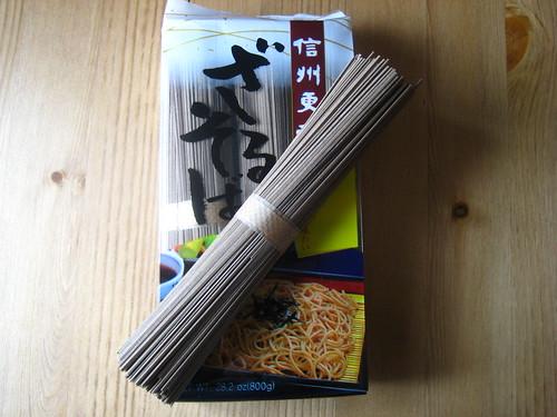 i made soba noodles.