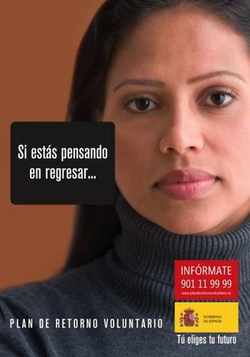 Publicidad del Plan de Retorno Voluntario