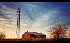The West Winds Blow (isayx3) Tags: sky tower field clouds barn nikon post cellular cel nikkor process friday d300 30mm ppfridays