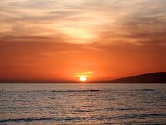 End of the Day (Caveman Chuck Coker) Tags: ocean california sunset sea sun pier losangeles pacific santamonica santamonicapier
