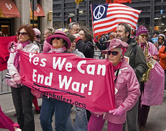 Code Pink Alert  2 (tripletstate) Tags: nyc peace manhattan protest demonstration antiwar wallstreet codepinkalert socialcauses marchonwallstreet