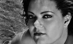 (Claryana) Tags: portrait blackandwhite bw woman blancoynegro girl face closeup nose mujer model eyes chica retrato cara lips modelo ojos labios nariz challengeyouwinner