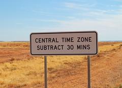 Where Central Time begins (ambrett) Tags: australia nsw brokenhill menindeelakes
