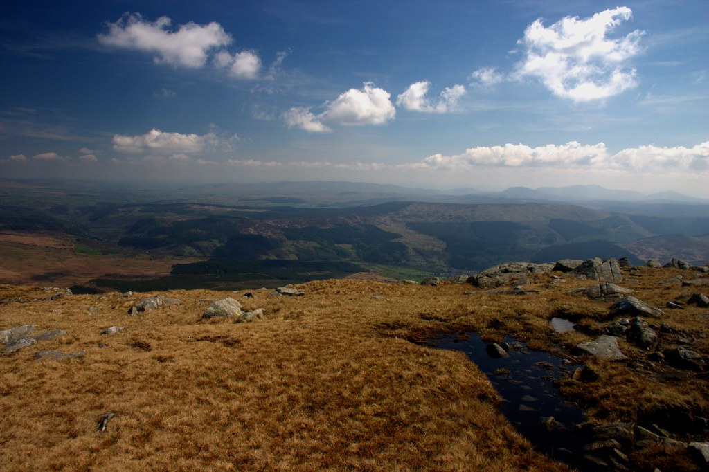 The view East from Moel Siabod