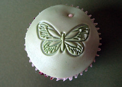 green butterfly fondant wedding cupcake (ArtisanCakeCompany) Tags: birthday wedding brown black orchid flower green cake oregon butterfly portland shower cupcakes lace chocolate weddingcake mint wrap special sprinkles bakery button ribbon pearl salem dust occasion couture grooms artisan frosting polkadot dredge shimmer keizer bakeries fondant buttercream artisancakecompany