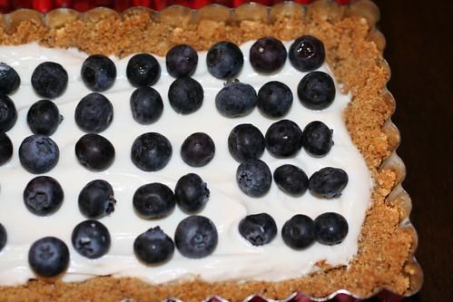 Close up of Honeyed Yogurt Blueberry Tart