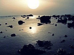 S e a s c a p e ( Meme) Tags: lighting blue light sunset sea summer wallpaper sky sun black water stone dark landscape photo colours afternoon stones country land sunrays atmospheric colorphotoaward goldenphotographer natureselegantshot