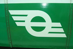 The Flying Snail - CIE Irish rail & bus logo (1950's) (RETRO STU) Tags: ireland 1950s railways cie flyingsnail córasiompairéireann