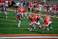 closest you can get to blocking the kick without touching the ball (Johnny Heger) Tags: college campus illinois spring universityofillinois urbana champaign uofi chipsi
