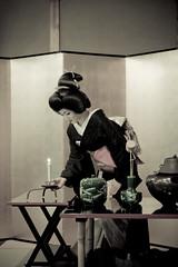 Tea ceremony (yocca) Tags: woman female kyoto candle geiko  kimono teaceremony 2009  kamishichiken  kitanoodori  ichimame   apr2009